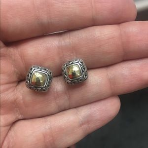 John Hardy gold and silver studs